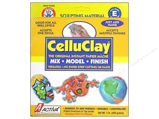 Paper Mache Clay & Modeling: Activa Celluclay 1 lb. Grey