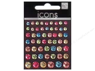Me & My Big Ideas Rhinestones: Me&My Big Ideas Sticker Rhinestone Icons Single Pastels