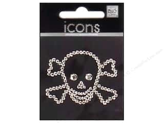 MAMBI Sticker Rhinestone Icon Skull&amp;Cross