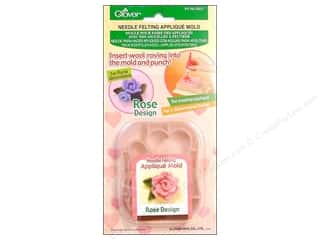 clover felt: Clover Felting Needle Applique Mold Rose Design