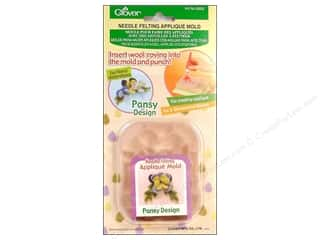 clover felt: Clover Felting Needle Applique Mold Pansy Design