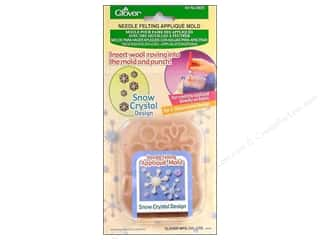 Clover Felting Needle Appl Mold Snow Crystal Dsgn