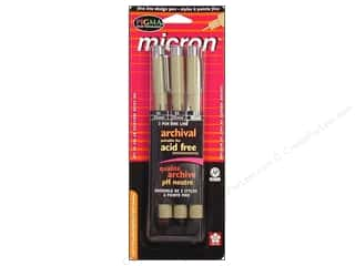 Dolls and Doll Making Supplies Black: Sakura Pigma Micron Pen Set Black.3pc