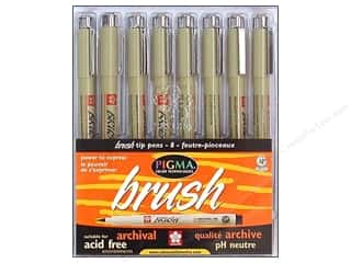 Sakura Pigma Brush Pen Set 8pc Assorted Color