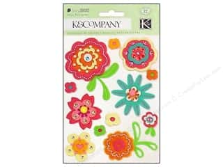 Scrapbooking & Paper Crafts: K&Co Sticker Felt Berry Sweet Florals