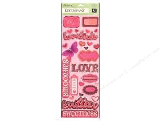 Borders Valentine's Day Gifts: K&Company Adhesive Chipboard Valentine's Day