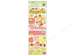 K&amp;Co Adhesive Chipboard Berry Sweet Words &amp; Icons