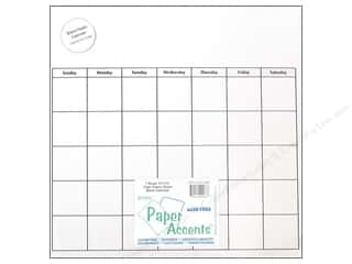 Paper Accents Calendar Page 12x12 Clr Plastic 1pc