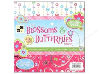 DieCuts 12 x 12 in. Paper Stack Blossom & Butterflies