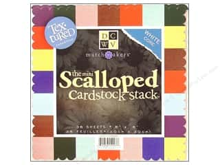 Cardstock  8x8: DieCuts Cardstock Stack 8x8 Small Scalloped