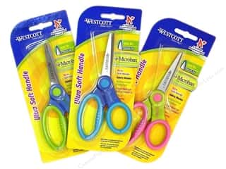 Westcott Scissor 5&quot; Microban Soft Hndl Point Astd