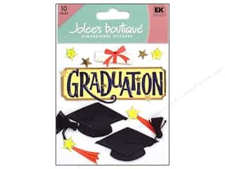 stickers  -3D -cardstock -fabric: Jolee's Boutique Stickers Graduation