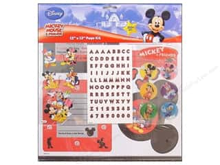 "Crafting Kits ABC & 123: EK Page Kits 12""x 12"" Disney Mickey & Friends"