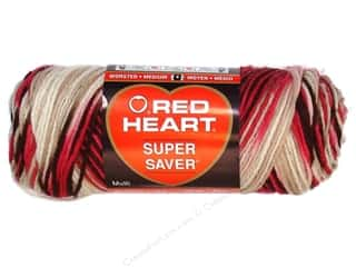 Red Heart Super Saver Yarn #0966 Cherry Chip 5 oz.