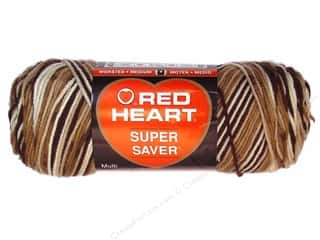 Red Heart Super Saver Yarn Shaded Brown 5 oz.