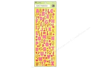 K&Co Sticker Berry Sweet Die Cut Alphabet Glitter