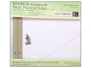 "Page Protectors Clearance Crafts: K&Company Page Protector Refill Kit 8.5""x 8.5"" Clear 10 pc"