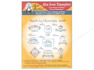 "Towels 24"": Aunt Martha's Hot Iron Transfer #4005 Red Death By Chocolate"