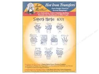 Aunt Martha's Hot Iron Transfer Blue Superb Herbs