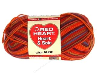 Bumpy Yarn: Red Heart Heart & Sole Yarn  #3935 Tequila Sunrise