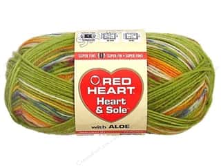 Hearts: Red Heart Heart & Sole Yarn  #3940 Green Envy