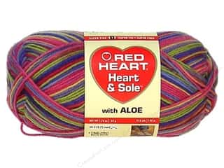 striping yarn: Red Heart Heart & Sole Yarn #3960 Spring Stripe 213 yd.