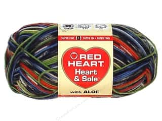 wool yarn: Red Heart Heart & Sole Yarn  #3967 Congo