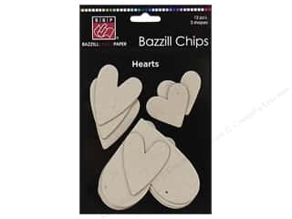 Bazzill Chipboard Chips Hearts 12pc
