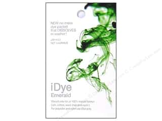 Jacquard Fabric Painting & Dying: Jacquard iDye Natural Fabrics Emerald 14 grams