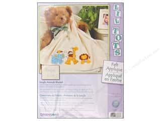 Clearance Blumenthal Favorite Findings: Dimensions Applique Blanket Kit Jungle Animal