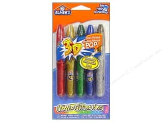 Glues/Adhesives: Elmer's 3D Washable Paint Pen Glitter Classic 5pc