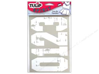 Tulip Iron On Transfer Spirit Numbers Multi White