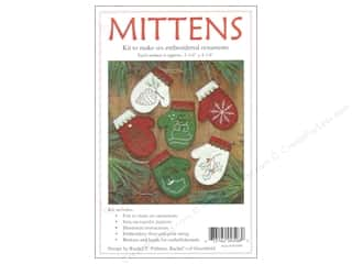 Rachel's Of Greenfield Kit Felt Mittens Ornaments