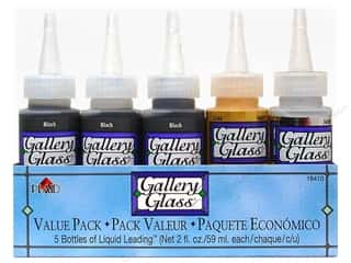 Craft & Hobbies: Plaid Gallery Glass Liquid Leading Value Pack