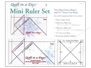 Quilt in a Day $4 - $8: Quilt In A Day Ruler Set Mini Geese
