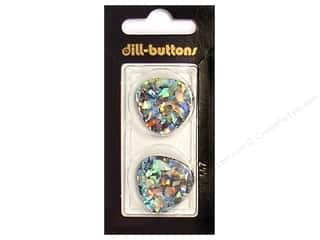 Clearance Art Institute Glitter 1oz Glass Shards: Dill 2 Hole Buttons 1 in. Black/Confetti #447 2pc.