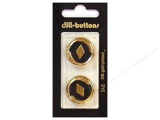 $23 - $24: Dill Shank Buttons 7/8 in. Enamel Black/Gold #540 2pc.