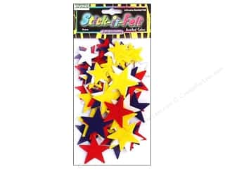 CPE: CPE Stick-It Felt Shapes Stars 68 pc.