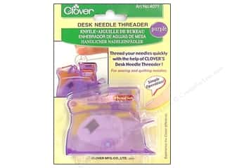 Collins Needles, Pullers, Cases & Threaders: Clover Desk Needle Threader Purple