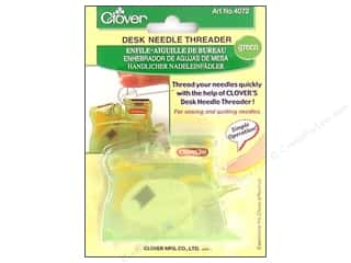 automatic needle threader: Clover Desk Needle Threader Green