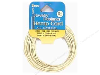 Darice JD Cord Hemp 20# White 8yd