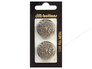 button: Dill Shank Buttons 1 in. Antique Silver Metal 2pc