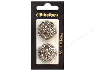 Dill Shank Buttons 1 in. Antique Silver Metal #1990 2pc