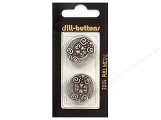 Patterns $7 - $8: Dill Shank Buttons 7/8 in. Antique Tin Metal #2004 2pc.