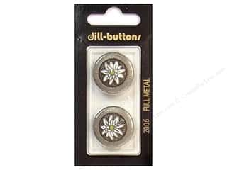 Metal & Tin Black: Dill Shank Buttons 7/8 in. Antique Tin Metal #2006 2pc.