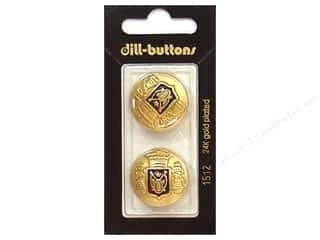 Sewing Construction Dill Buttons: Dill Shank Buttons 7/8 in. Enamel Navy/Gold #1512 2pc.