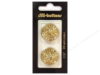 Buttons 7/8  in: Dill Shank Buttons 7/8 in. Gold #1787 2pc.