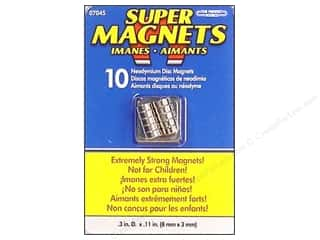 "Basic Components: The Magnet Source Magnet Neodymium Super Disc 1/3"" 10pc"