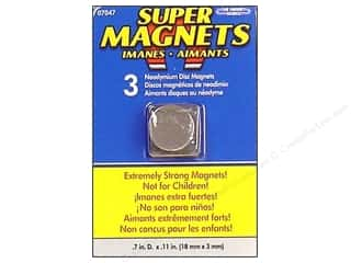 "Basic Components Craft & Hobbies: The Magnet Source Magnet Neodymium Super Disc 5/8"" 3pc"