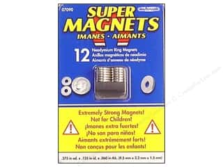 "Magnet Source, The Clearance Crafts: The Magnet Source Magnet Neodymium Super Ring 3/8"" 12pc"